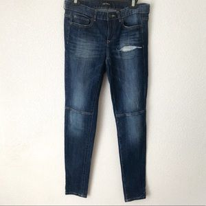 Joe Fresh Skinny Jeans With Knee Seam Tattered